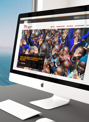 Micronutrient Initiative website, desktop view.