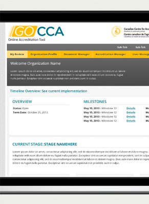 CCA Online Accreditation Tool