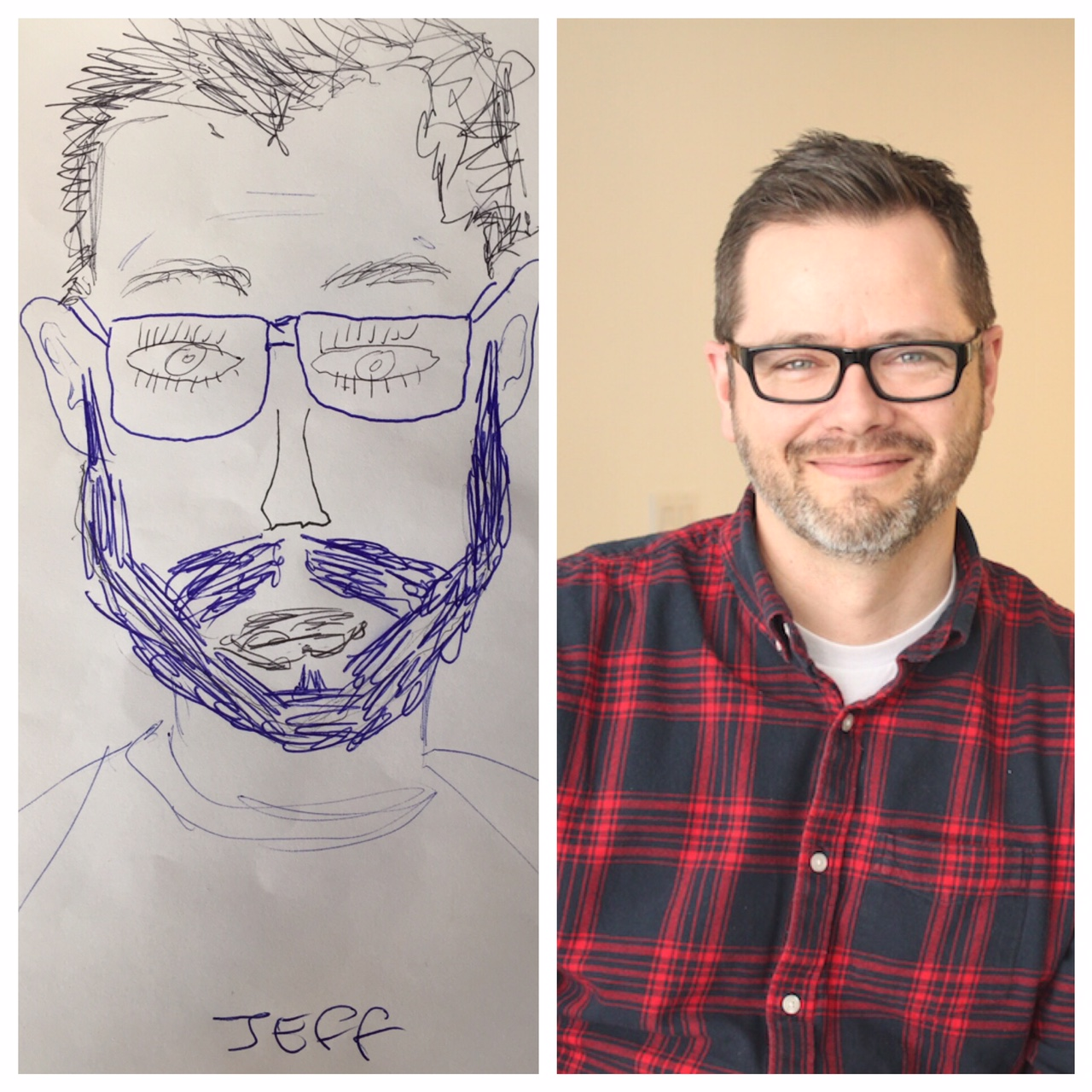 Jeff's face drawing