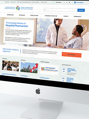 CSHP website on imac