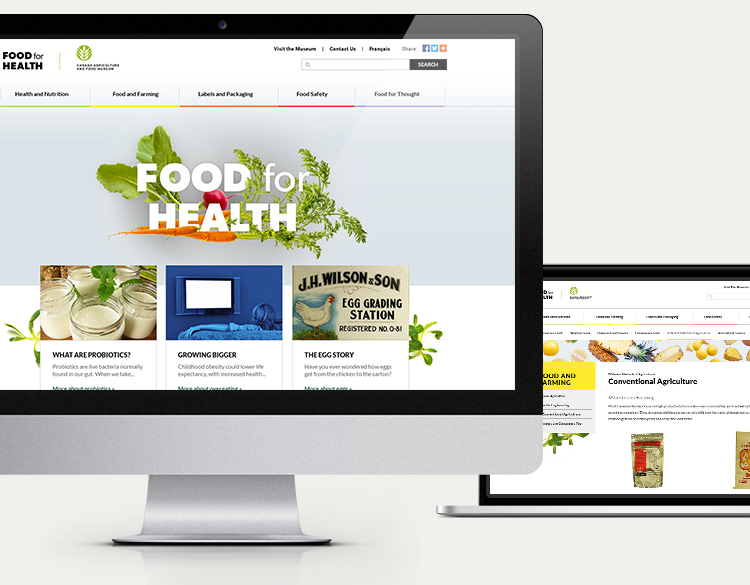 Food for Health website desktop view.