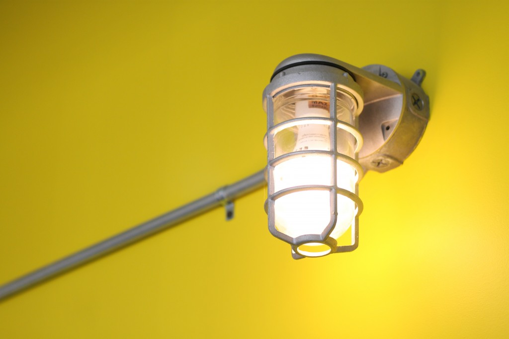 Photo of a light fixture at the Industrial office