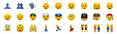 action emoticons